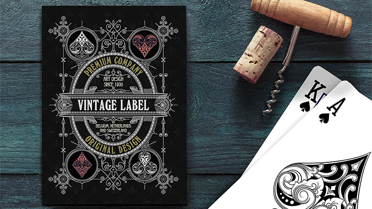 Vintage Label Playing Cards (Gold Gilded Black Edition) by Craig