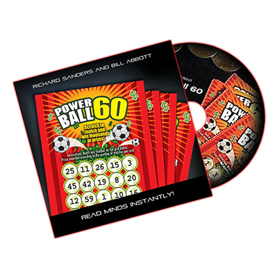Powerball 60 (DVD, Gimmick, US Lotto) by Richard Sanders and Bil